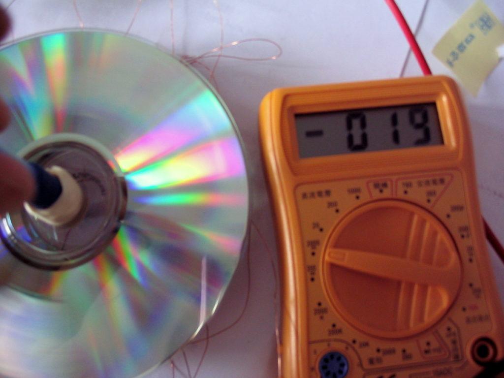 Got a maximum voltage of 0.19V!