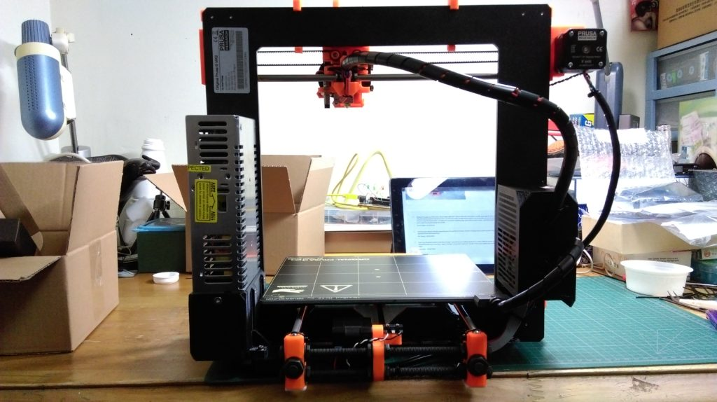 Prusa Mk2 3D Printer. Almost done!